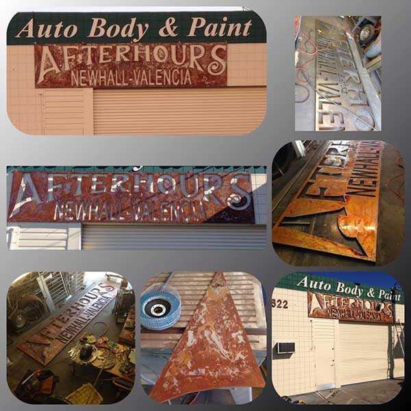 Auto Body and Paint Custom Sign