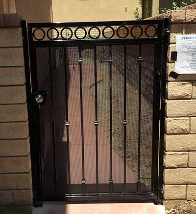 Ornamental Black Steel Gate