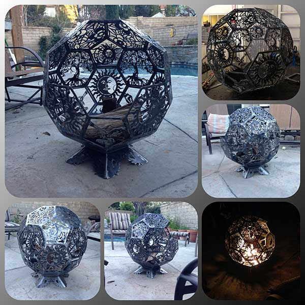 Custom Wrought Iron Fire Pit