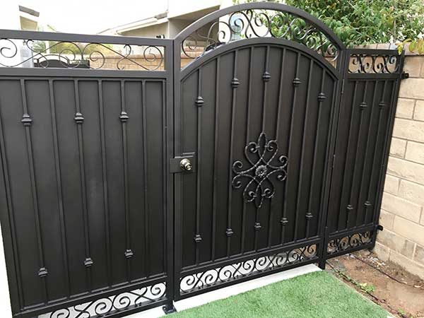 Ornamental Iron Fence and Gate