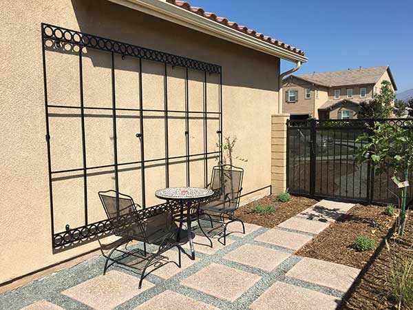 Exterior Wrought Iron wall Grid