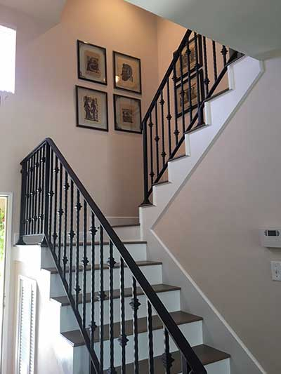 Wrought Iron Interior Stair Railings