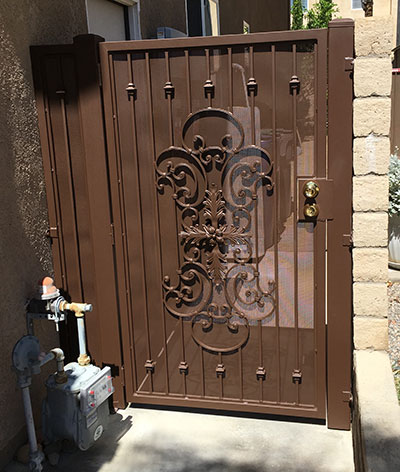 Steel Gate Painted Brown