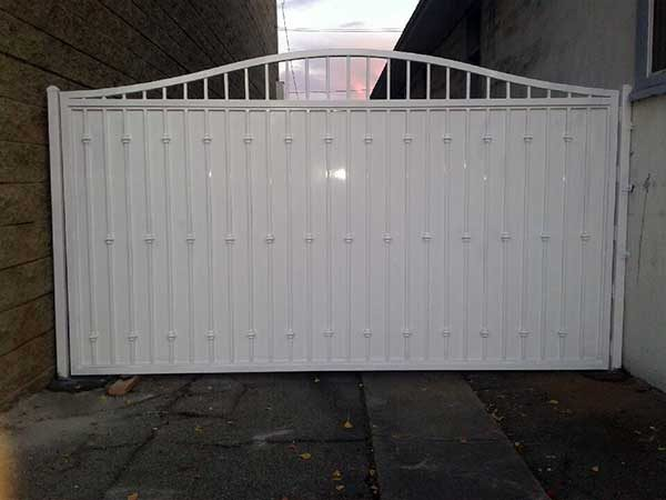 White Steel Fence