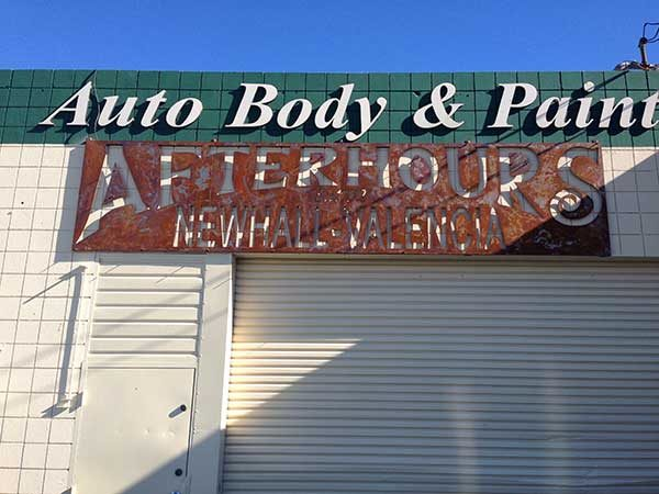 Afterhours Metal Auto Body Sign