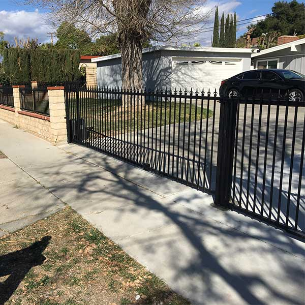Black Wrought Iron Sliding Gate