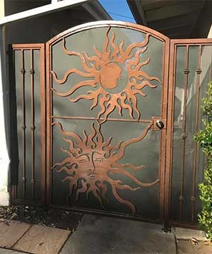 Custom Designed Gate with Powder Coat Finish