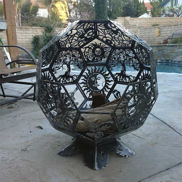 Custom Metal Circular Fire Pit