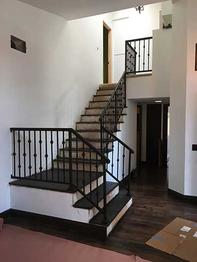 Wrought Iron Custom Interior Stair Railings