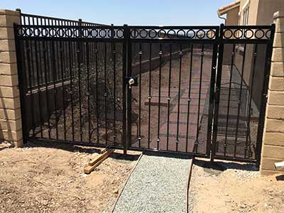 Metal Fence and Gate for Side Yard