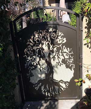 Custom Steel Gate With Unique Panel Design